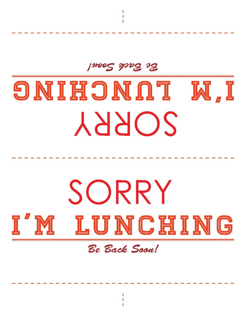 Lunch sign template